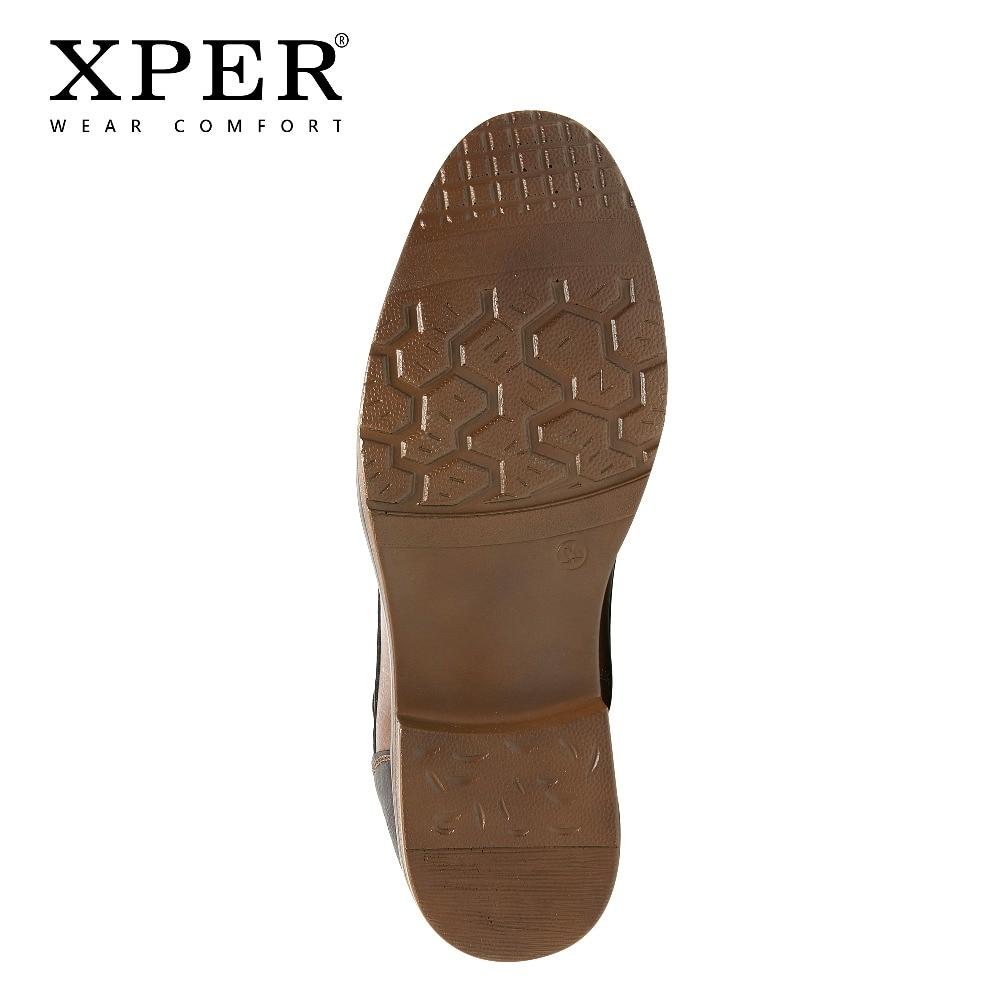 XPER 2019 Printemps Nouveautés Mode bottines Hommes Mise À Niveau bottes de moto Porter Confort Lumière D'hiver Chaussures Armée # XHY12504LG - 6