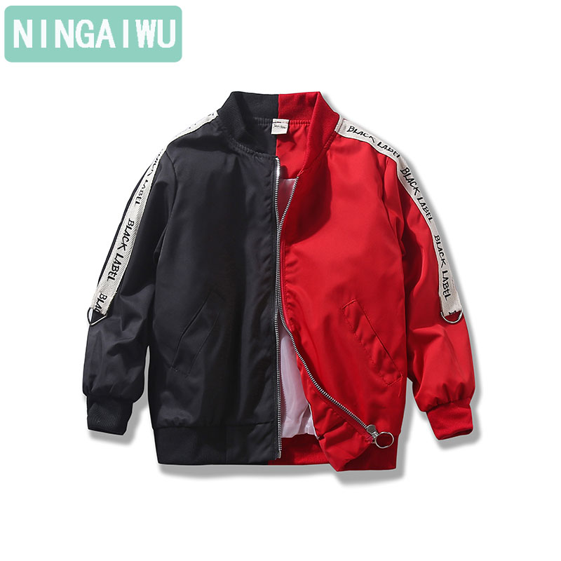 цена на Boy's jacket 2018 spring costume new Children's coats 3-5-6 7-8-9-14 year-old children's fashion jacket kids of patchwork style