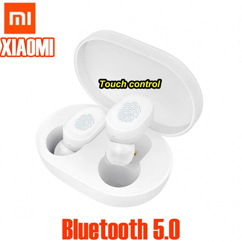 Original TWS Xiaomi AirDots Earphone Bluetooth 5.0 Touch control Headset Mi Earphone Build-in Mic With Charging box