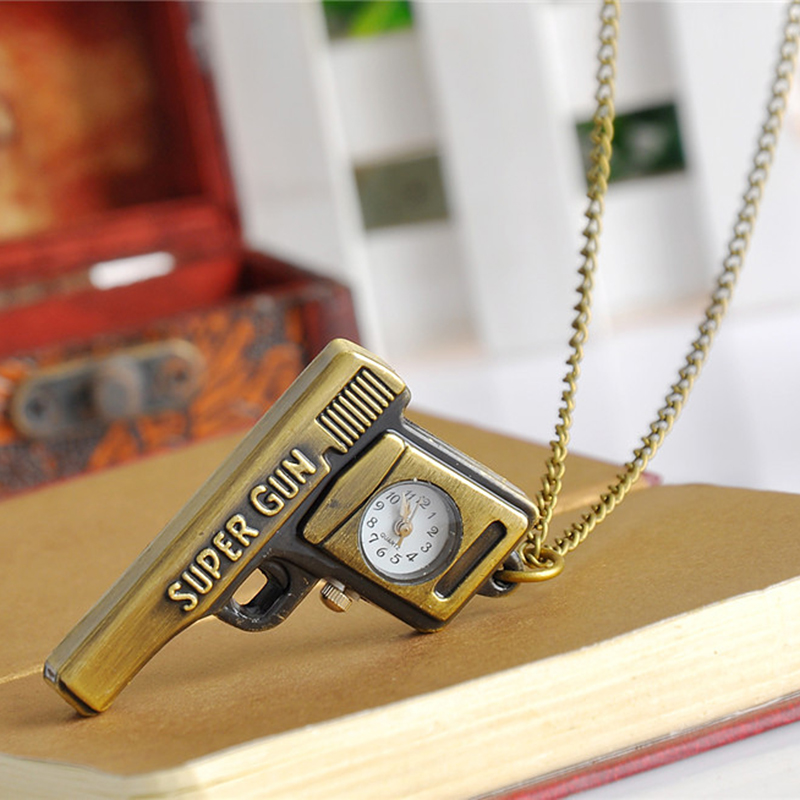 Cindiry fob watches creative retro personality bronze quartz pocket watch women men hollow necklace pendant sweater