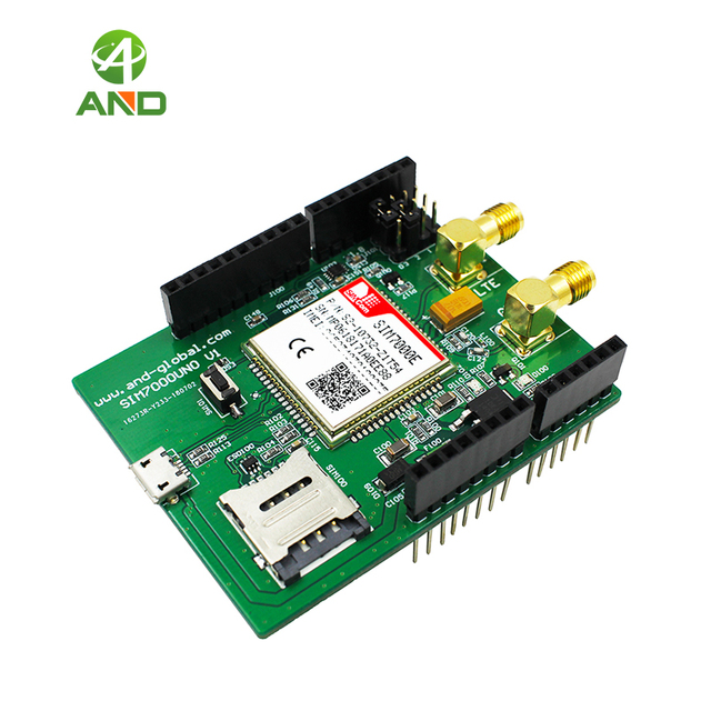 US $39 9  SIM7000E kit for Arduino UNO,eMTC NB IoT Shield development board  1set-in Electronics Stocks from Electronic Components & Supplies on
