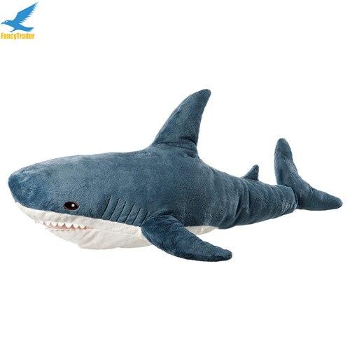 Fancytrader 39\'\' Big Plush Hammerhead Shark Soft Stuffed Lifelike Animal Shark Toy for Kids 100cm Great Gift & Home Decoration (3)