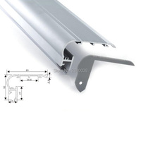 20X1 M Jogos/Lote passo escada de alumínio perfil de led e bancada tipo escadas lâmpadas led habitação perfil de alumínio para a sala de ktv