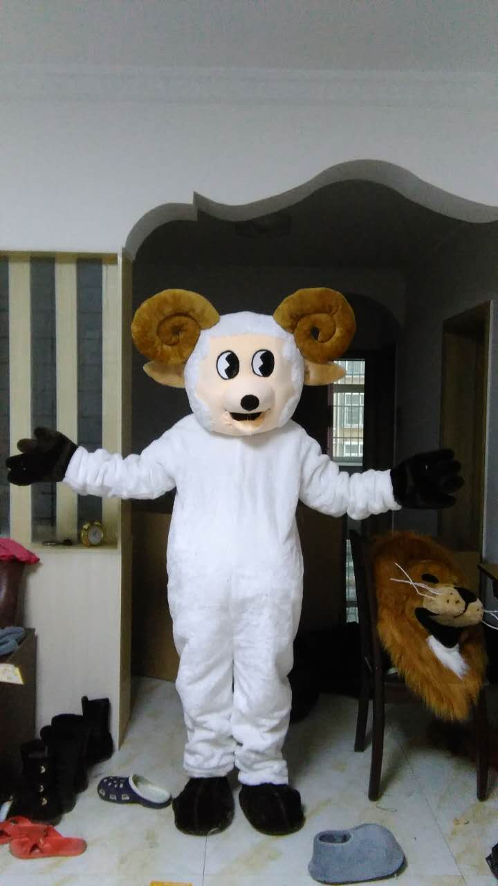 Mouton mascotte Costumes 100% image réelle adultes noël Halloween tenue fantaisie robe costume livraison gratuite 2019New