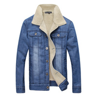 2017 LEFT ROM Men Jacket And Coats Brand Clothing Denim Jacket Fashion Mens Jeans Jackets Thick