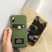Джинсовый камуфляжный чехол для мобильного телефона AppleX iphone7 xs Max 6 S socket pocket 7 fall-proof 8 plus man simple personality XR protect