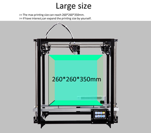 Image 4 - Flsun impresora 3D de gran precisión, Kit de impresora 3D de gran tamaño, 260x260x350mm, cama caliente, tarjeta Sd de filamento de un rollo