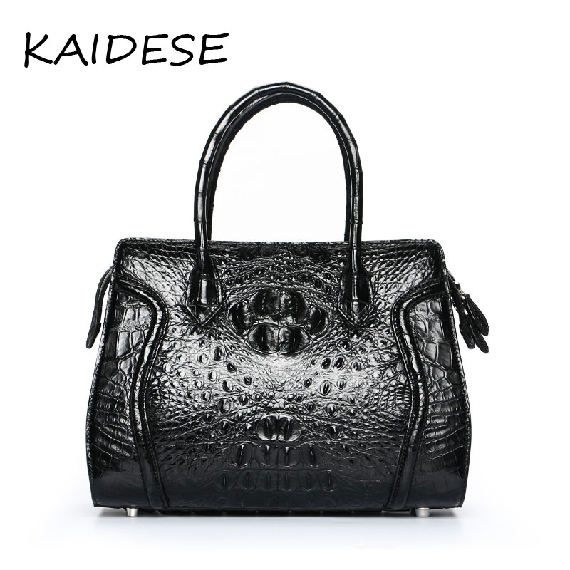 KAIDESE 100% Thai crocodile leather hand work system for 2017 new style real leather alligator bag lady big capacity hand bag kaidese 100% thai crocodile leather hand work system for 2017 new style real leather alligator bag lady big capacity hand bag