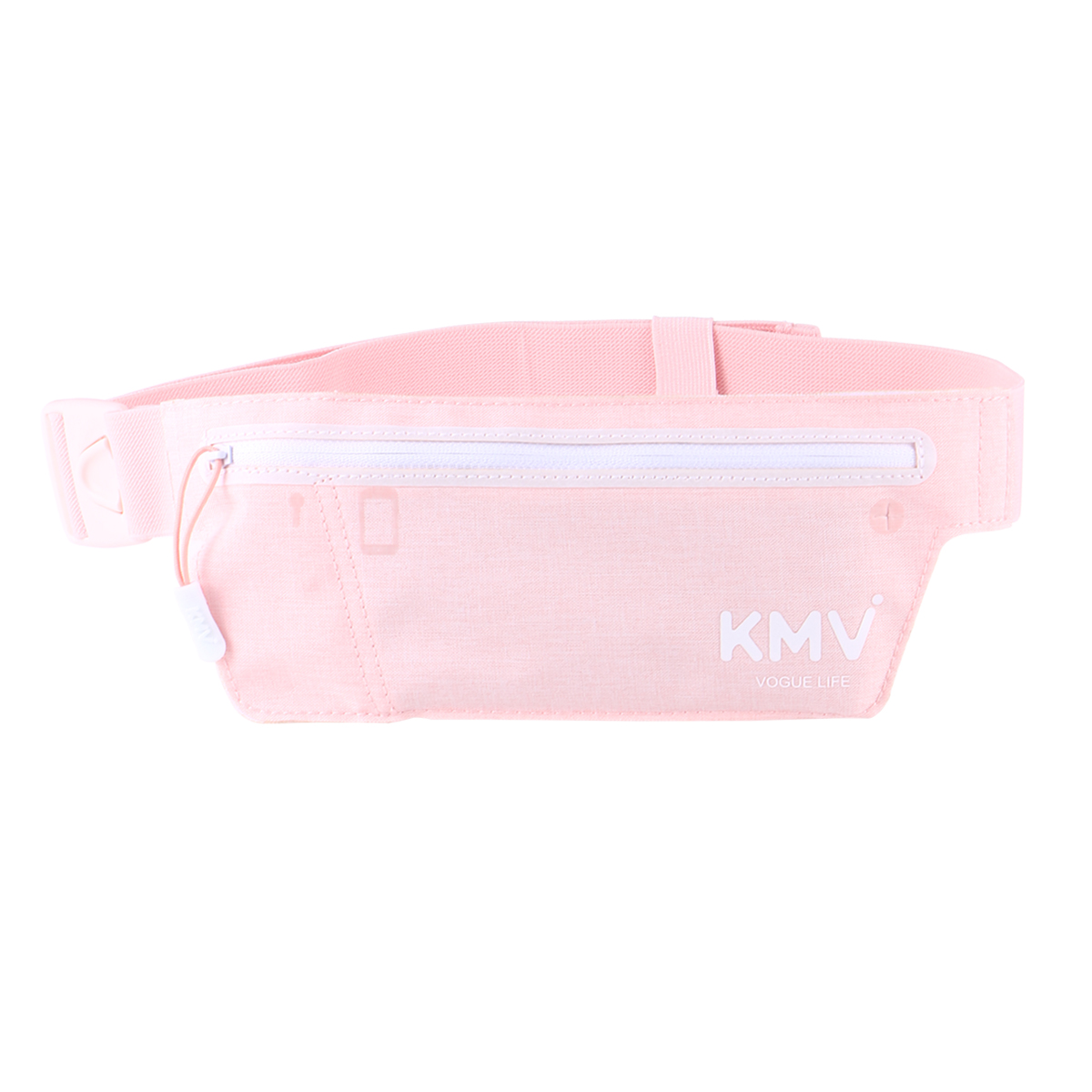 Beautiful Blooming Pattern White Pink Running Lumbar Pack For Travel Outdoor Sports Walking Travel Waist Pack,travel Pocket With Adjustable Belt