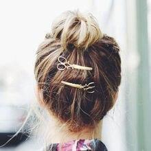 Барретт шпилька lady ножницы популярные форма зажим украшения девушки аксессуары волос