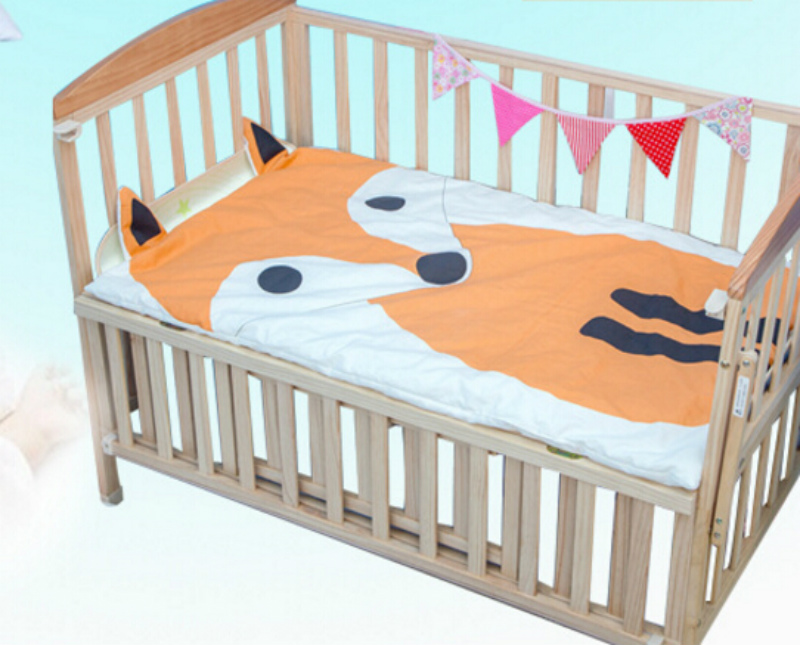 Baby Bed Mattress Cover Blanket Fox Cat Design Cot Cotton Barraca Infantil Jogo De Cama Crib Bedding Set In Sets From Mother