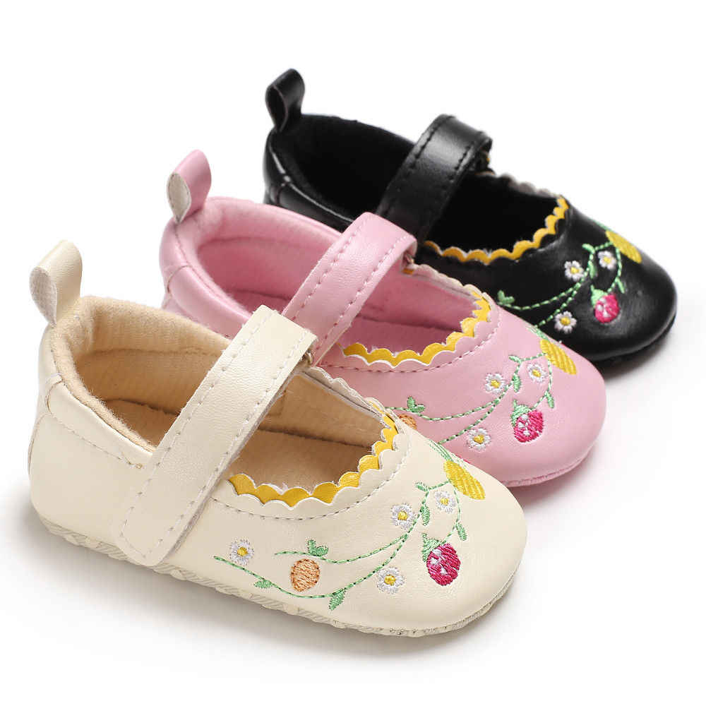 Baby Girls Infant Casual Shoes Toddler Prewalker Flower Printed Princess  Crib Shoes Little Baby Girls Soft Sole Sneaker