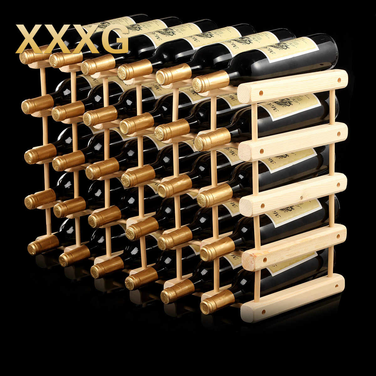 Wooden Bottle Rack Xxxg Diy Creative Foldable Wine Rack Wooden Wine Beer Bottle Rack Organizer Holder Mount Kitchen Bar Display Wine Racks