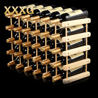 XXXG DIY Creative Foldable 10 Bottle Wooden Wine Beer Bottle Rack Organizer Holder Mount Kitchen Bar