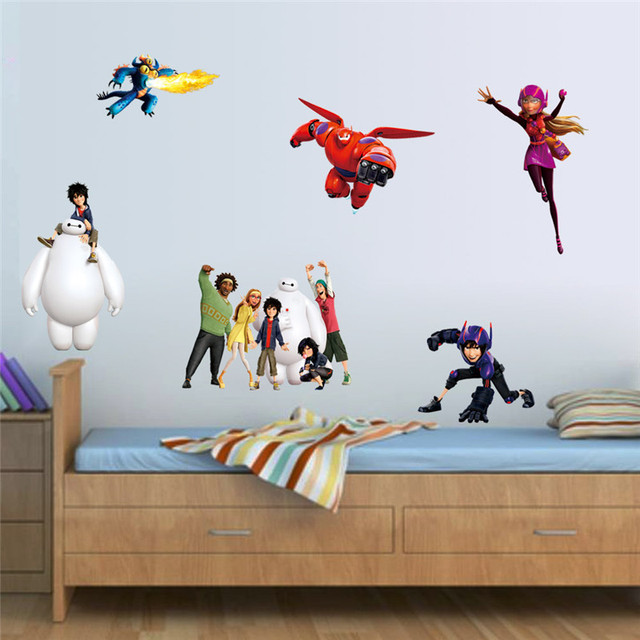 Elegant Super Hero Wall Stickers For Kids Room Decor Decorative Movie Decals  Removable Pvc Cartoon Wall Art Part 21