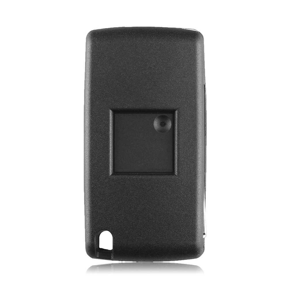 KEYYOU 3 кнопки автомобиля Автозапуск Флип складной дистанционный ключ 433 МГц с ID46 чип HU83 лезвие для Peugeot 207 307 308 407 607
