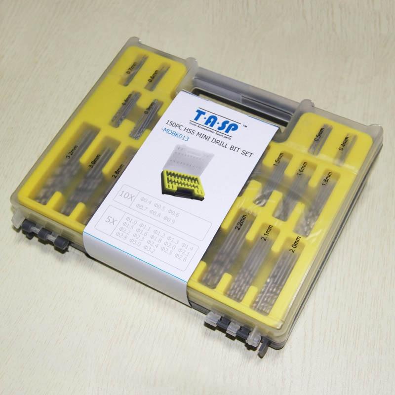 150-osaline HSS mikro-PCB puurimiskomplekt 0,4-3,2 mm Dremeli - Puur - Foto 5