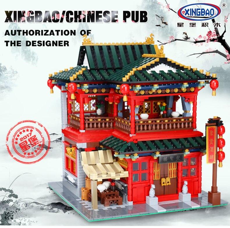 Xingbao LegoEES Creator Series el kit de modelos educativos de la ciudad de China bloques de construcción de juguetes para niños regalos de bricolaje-in Bloques from Juguetes y pasatiempos    2