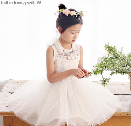 Aliexpress.com : Buy New 2016 Big girls party dress kids Flower ...