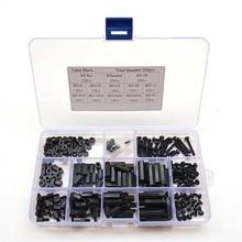 260 шт. M3 черные M-F серии шестигранные нейлоновые винты, гайки, печатные платы высота шестигранные прокладки комплект в комплекте с коробкой