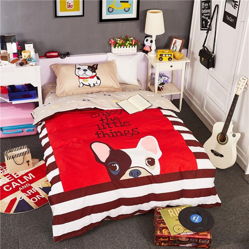 Cartoon Cat Dog Horse Bedding Set Queen Twin Size 100