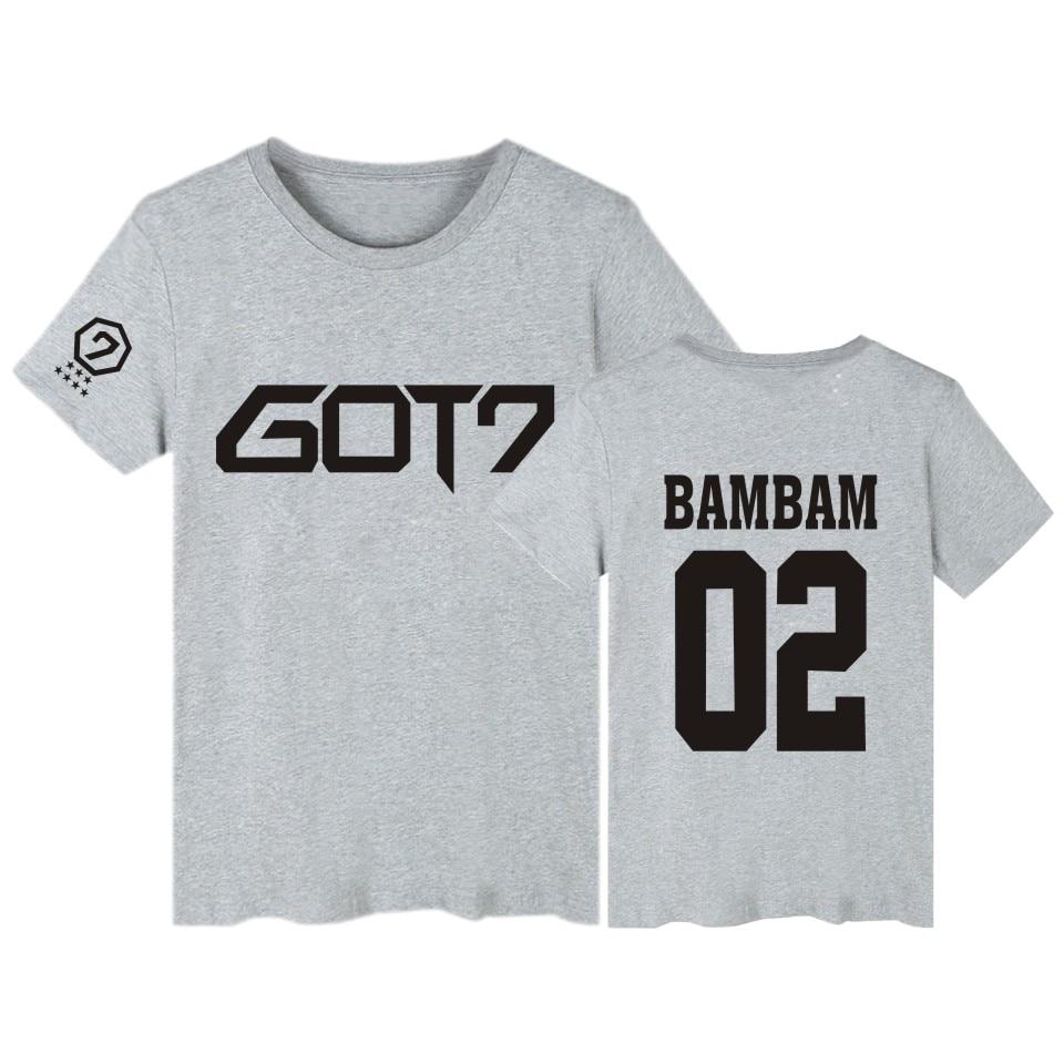 5b857562b58f Dropwow BTS GOT7 Kpop BAMBAM TShirts JB Jackson Short Sleeve T ...