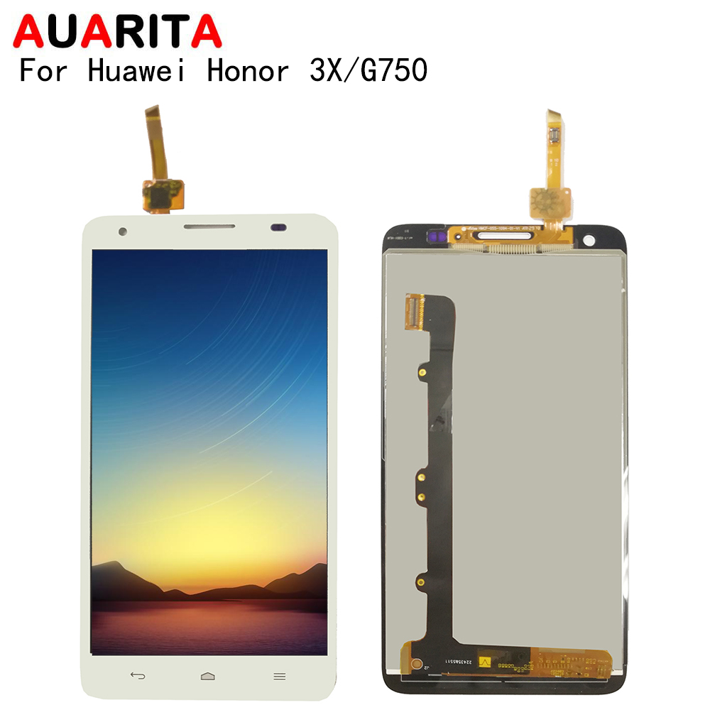 LCD For <font><b>Huawei</b></font> Honor 3X <font><b>G750</b></font> <font><b>G750</b></font>-T01 <font><b>G750</b></font>-T00 <font><b>G750</b></font>-<font><b>U10</b></font> lcd display with touch panel glass screen with frame digitizer assembly image