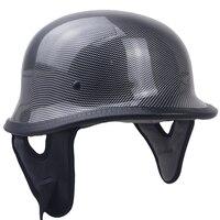 DOT Motorcycle German Style Half Open Face Helmet Chopper Cruiser Scooter Harley bike helmet M35 style