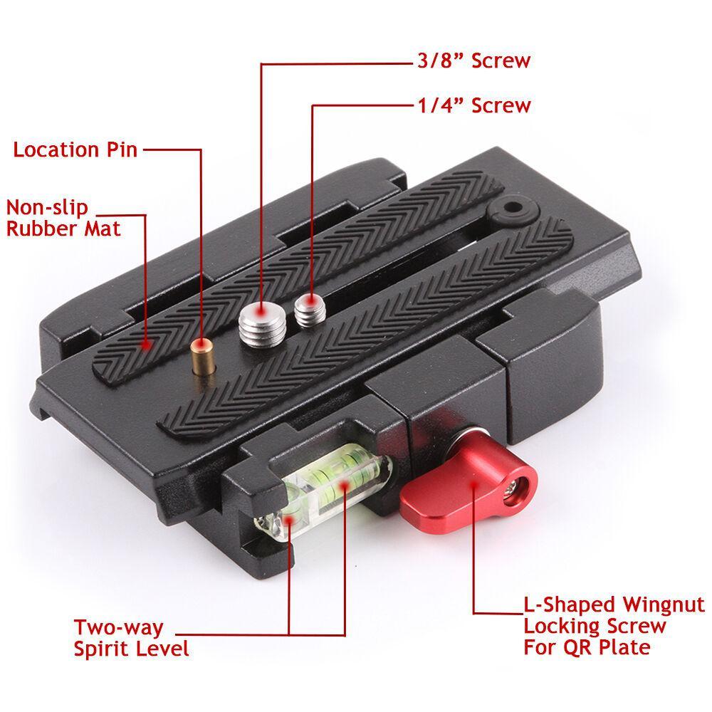 Halcon Parts Manfrotto 500 AH 701 503 HDV 577 P200 Quick Release QR Clamp Base Plate