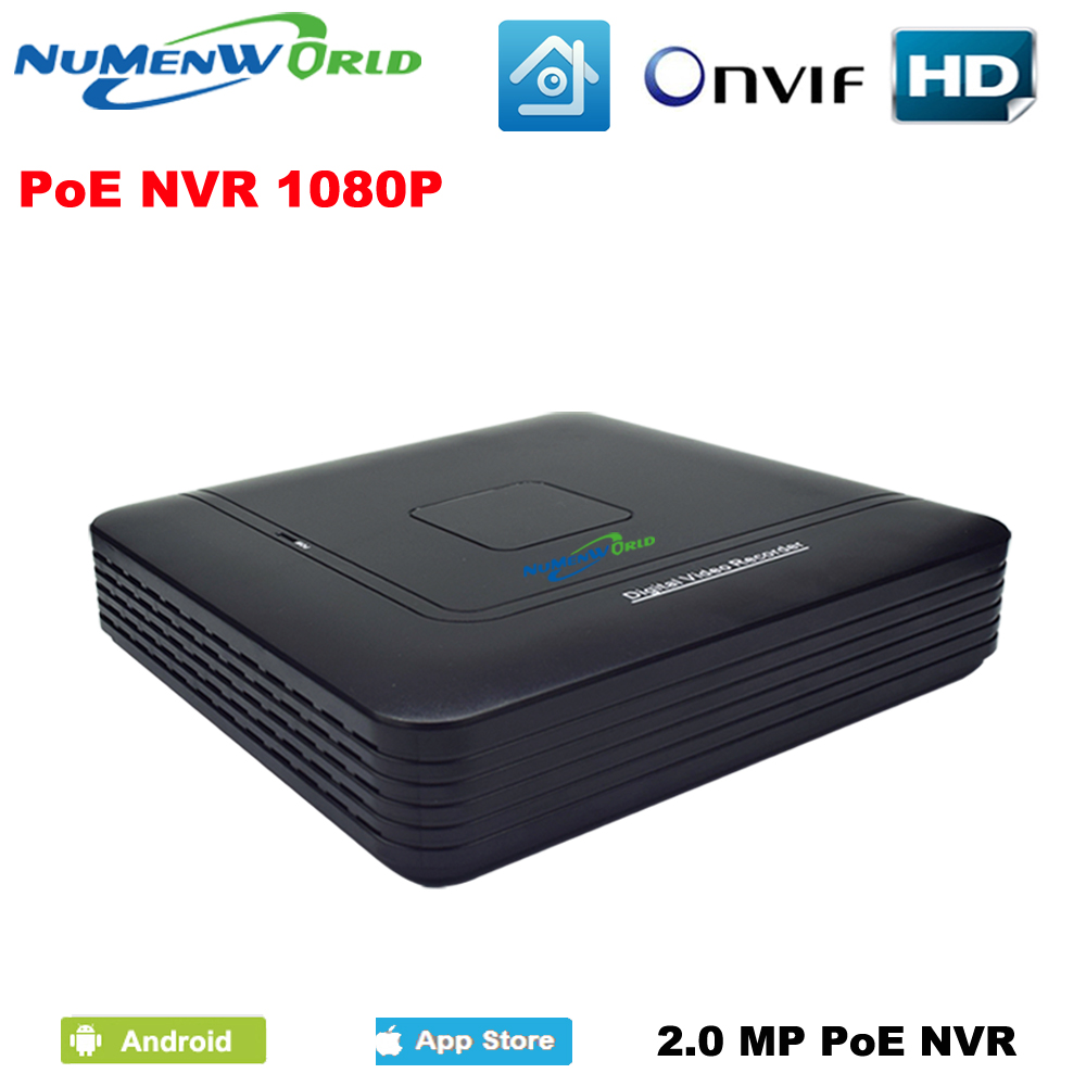 DC48V P2P 4CH POE Mini NVR Manufacturer Real Time Recording 4CH Support POE ONVIF For POE HD IP Camera with 4 Independent PoE цена