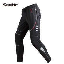Santic Cycling Pants Winter Fleece Thermal Windproof Breathable Leisure Trousers MTB Bicycle Bike Pants Pantalon Ciclismo