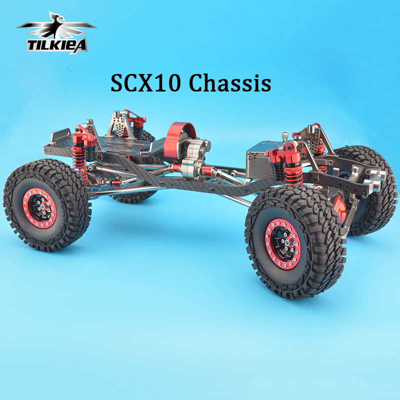 Rc cnc legierung scx10 chassis carbon rahmen 1/10 4wd rock crawler ...