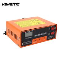 Vehemo 140W 12V/24V Car Battery Charger Spare Battery Charger Electric Intelligent PWM US Plug