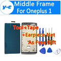 For Oneplus One Frame 100% New Oneplus One Middle Frame Replacement For Oneplus One 1+ Smart MobilePhone Frame Front Faceplates