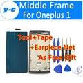 Para oneplus one quadro novo 100% oneplus one substituição quadro do meio para oneplus one 1 + frente quadro faceplates celular inteligente