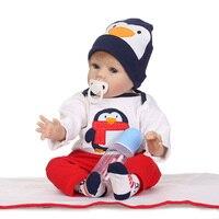 Кукла reborn 55 см, игрушки для новорожденных, силиконовая Реалистичная кукла мальчик для детей