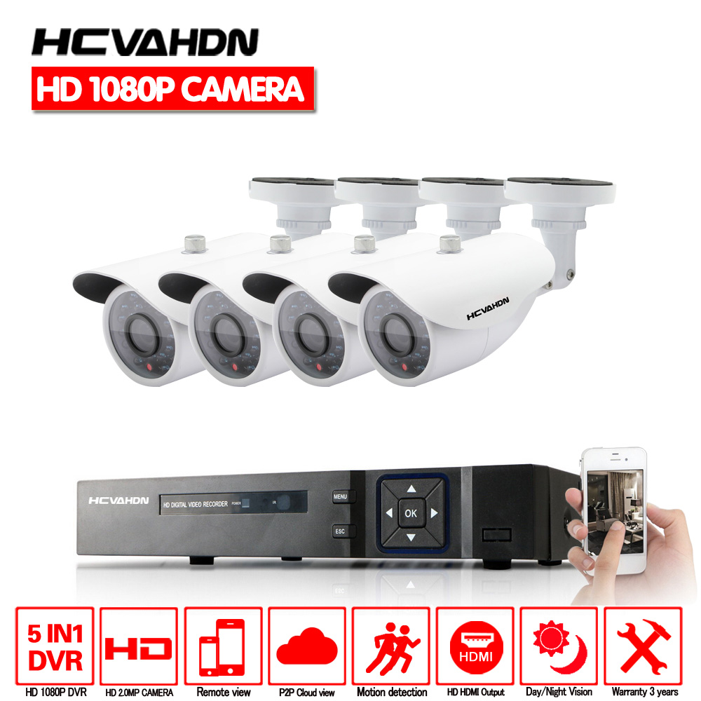 8CH 1080P HD HDMI DVR 3000TVL 2.0MP Outdoor CCTV Home Security Camera System Kit