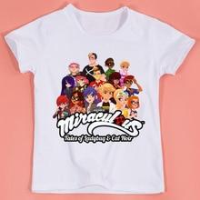 c69884fb3ab64 2018 summer Boys Girls Miraculous Ladybug Cartoon Printed Funny T-shirts  Kids Summer Tops