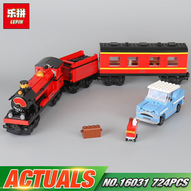Lepin 16031 Funny Toys 724Pcs Movie Series The Hogwarts Express Set 4841 Building Blocks Bricks Educational Toys As Model Gifts lepin 16030 1340pcs movie series hogwarts city model building blocks bricks toys for children pirate caribbean gift