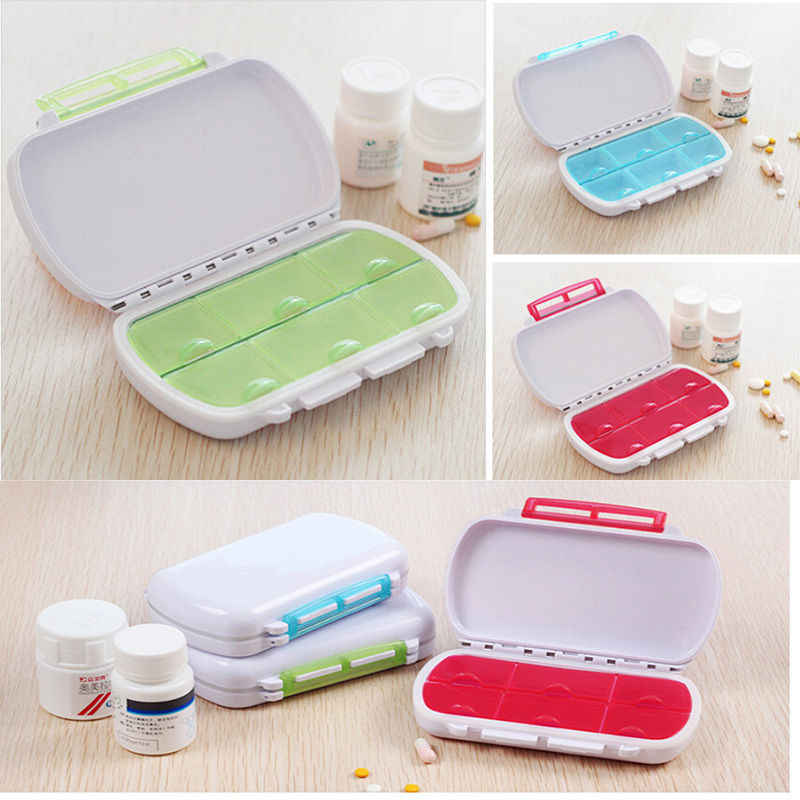 HENGHOME 1Pcs Candy Colors Portable Sort Folding Vitamin Medicine Pill Box Makeup Storage Case Container Pill Cases & Splitters
