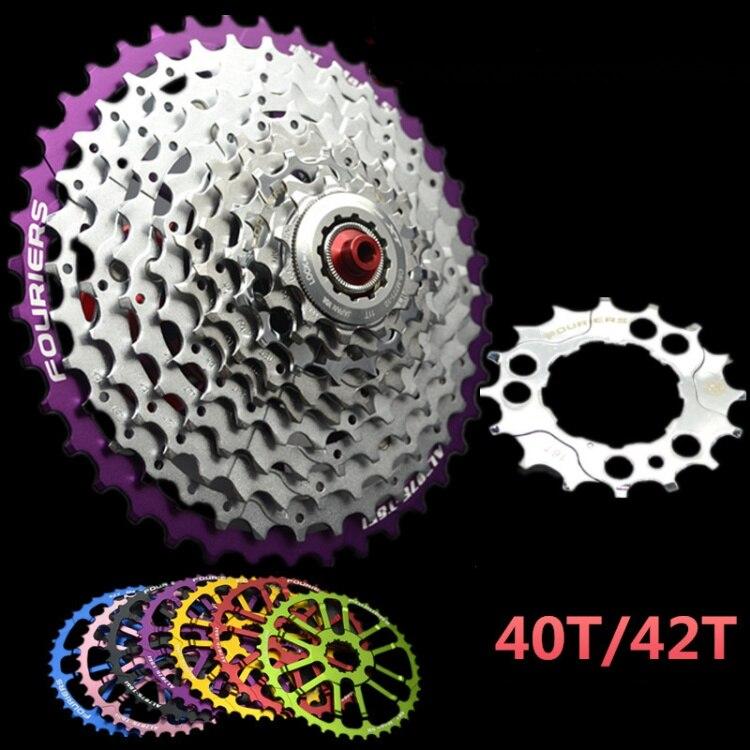 FOURIERS vtt 40 T/42 T volant d'inertie à vitesse unique tranche étendue VTT vélo volant d'inertie Cassette outil pièces Bicicleta cassetta