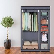 DIY התאסף שאינו ארוג בד מלתחת רב שכבתי Dustproof בגדי נעלי אחסון ארון חדר שינה שמיכת ושונות ארגונית מדף