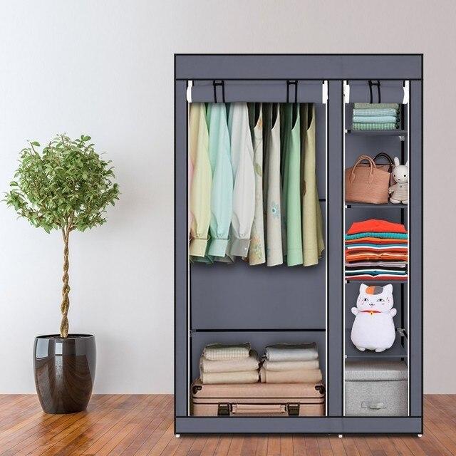 DIY Собранный нетканый шкаф для одежды многослойный пылезащитный шкаф для хранения одежды шкаф для спальни одеяло разное Органайзер стойка