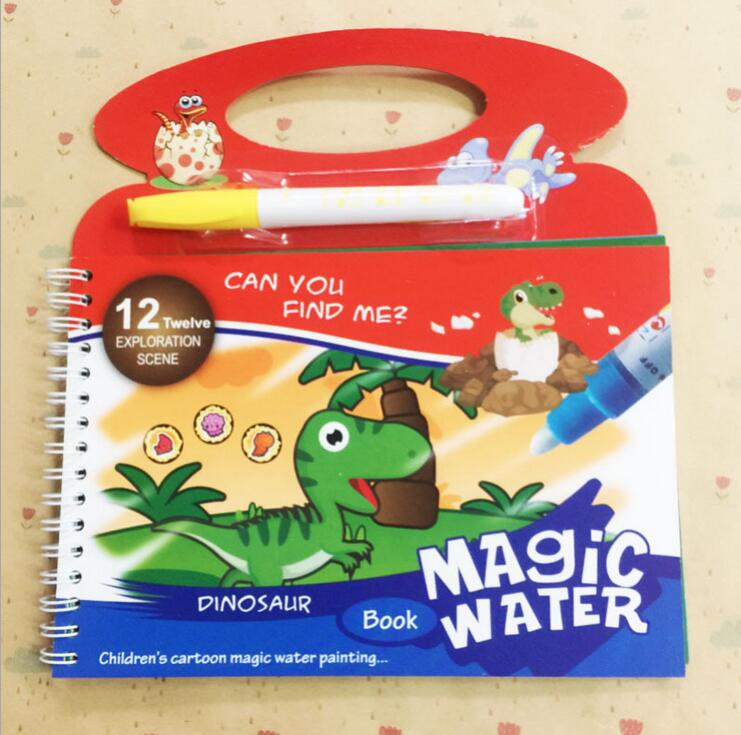 Image 3 - Reusable Magic Water Painting Book Magic Doodle pen Kids Coloring Doodle Drawing Board Toys Baby Educational Toy-in Drawing Toys from Toys & Hobbies