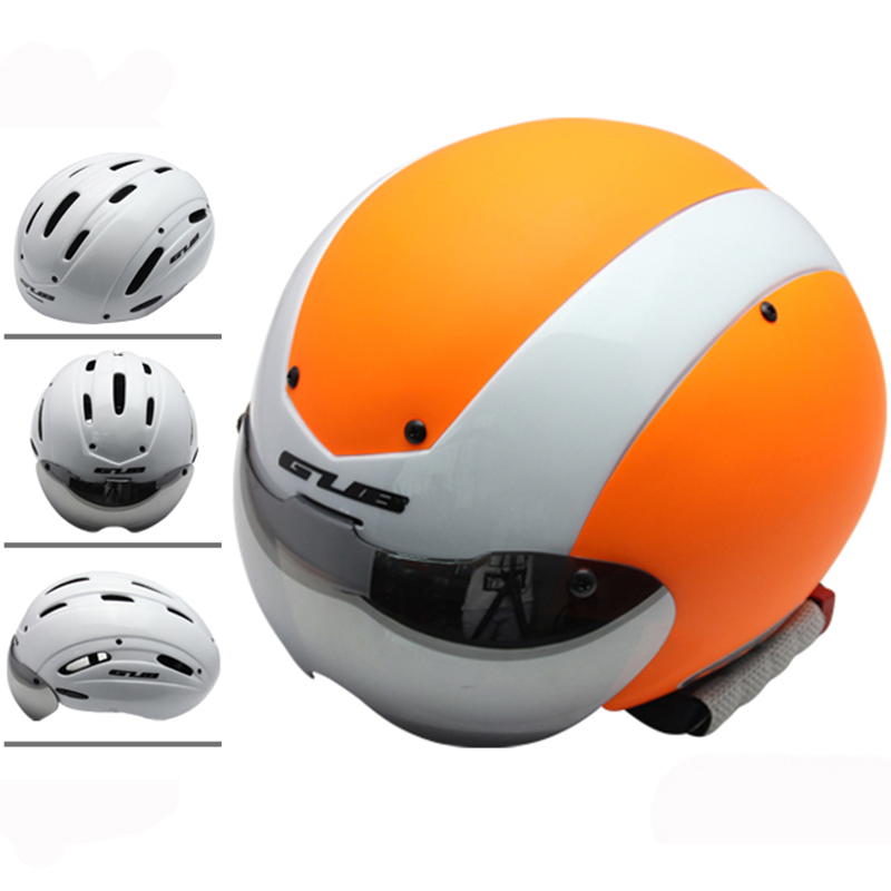 GUB Time Trail Racing Bicycle helmet Multi function 13 air vent goggle Cycling Helmet road bike