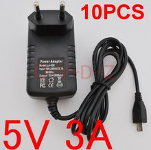 10 pcs 5 v 3a micro usb adaptador de alimentação carregador para quad core Tablet PC Onda V975s V975m V973 V972 V971 V811 V813 V801 V711S