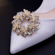 Removable womens luxury ring rhinestone design shoes decorations shoes clip  shoes buckle