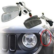 Для Jeep Renegade 2017-2014 боковое отражение Предупреждение поворотник сигнальная лампа Передние поворотники боковой свет и крышка