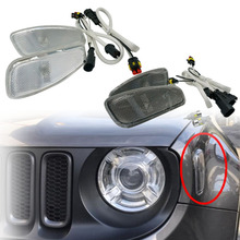 For Jeep Renegade 2014 2017 Side Reflection Warning Turn Signal Light font b Lamp b font