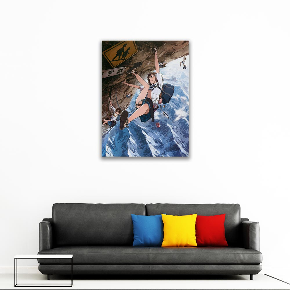 Yama no Susume Wall Pictures Climbing Mountain Schoolgirls Canvas Painting Living Room HD Otaku Print Hanging Painting in Painting Calligraphy from Home Garden